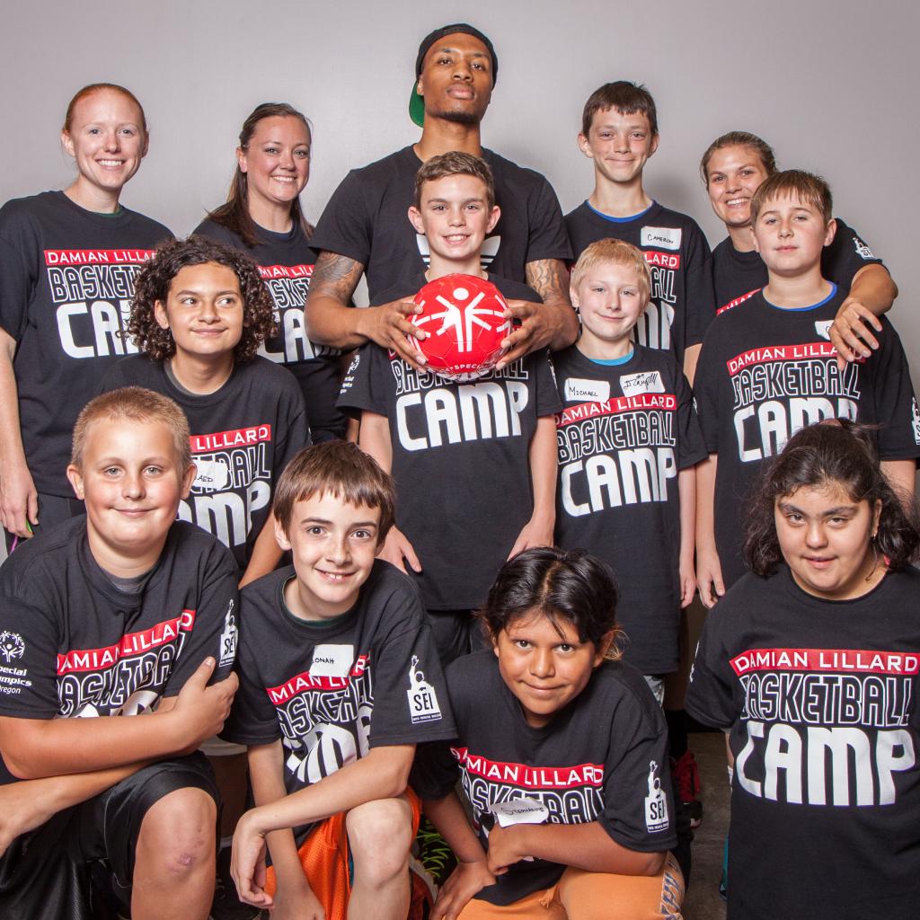 Damian Lillard Basketball Camp - Respect Campaign Photo