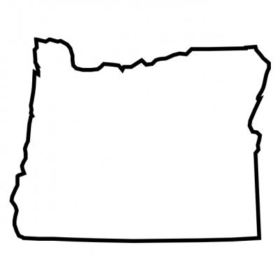 Oregon State Outline White backgorund