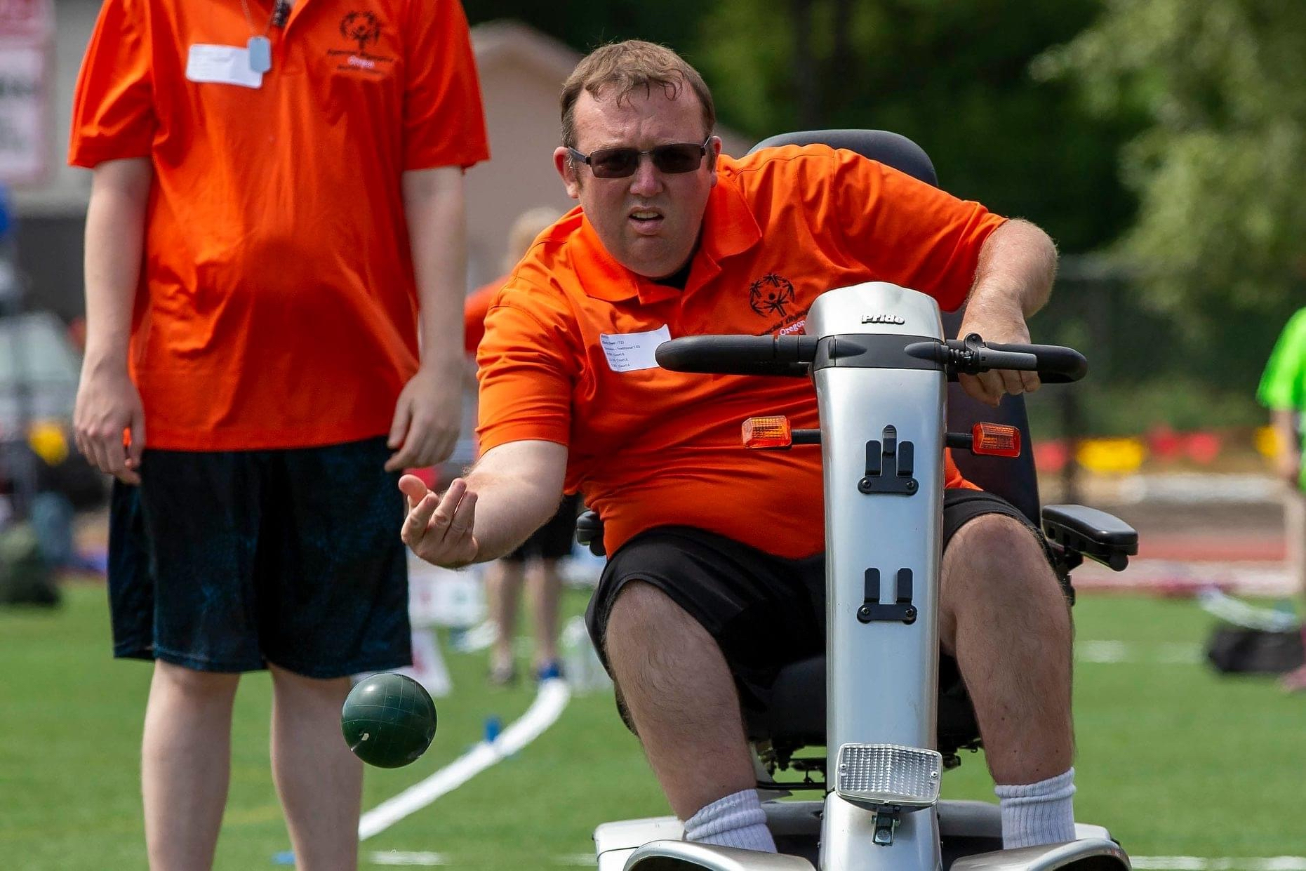 Photo of Chris Dyer competing during Bocce match